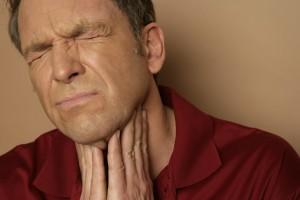 Боль в горле, причина: волдыри