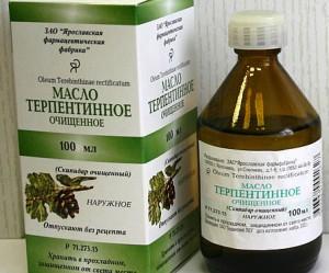 терпентинное масло применение