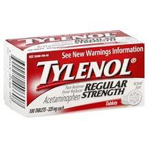 ацетаминофен тайленол