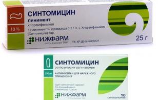 мазь синтомицин от чего помогает