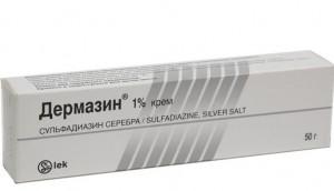 мазь от ожогов с серебром дермазин