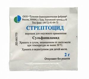 стрептоцид порошок применение