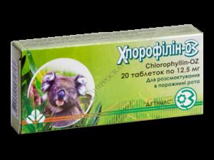 хлорофиллипт при боли в горле