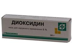 диоксидин как пользоваться