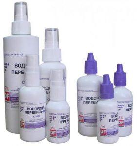 герпес на губах лечение перекисью водорода