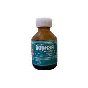 лечение цветного лишая борной кислотой