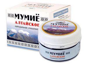 мумие в таблетках применение