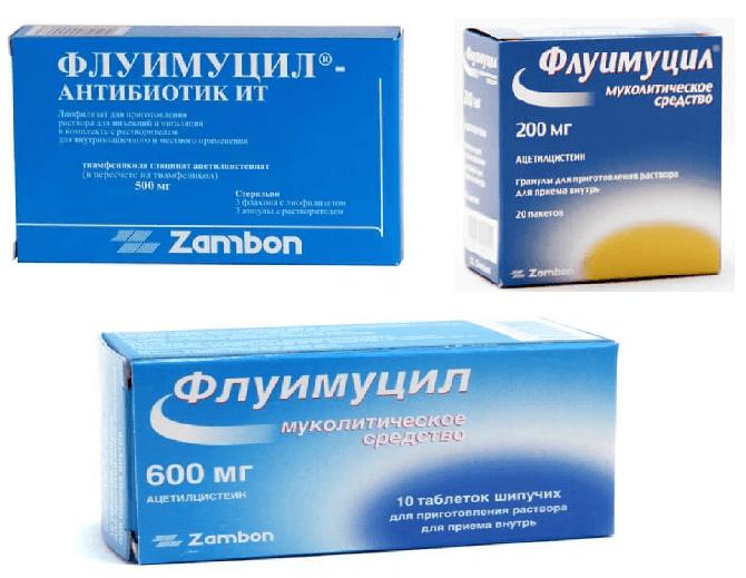 Флуимуцил сироп, раствор для ингаляций: инструкция по применению.