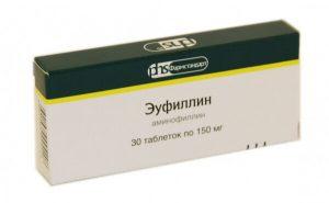 электрофорез с эуфиллином и никотиновой кислотой