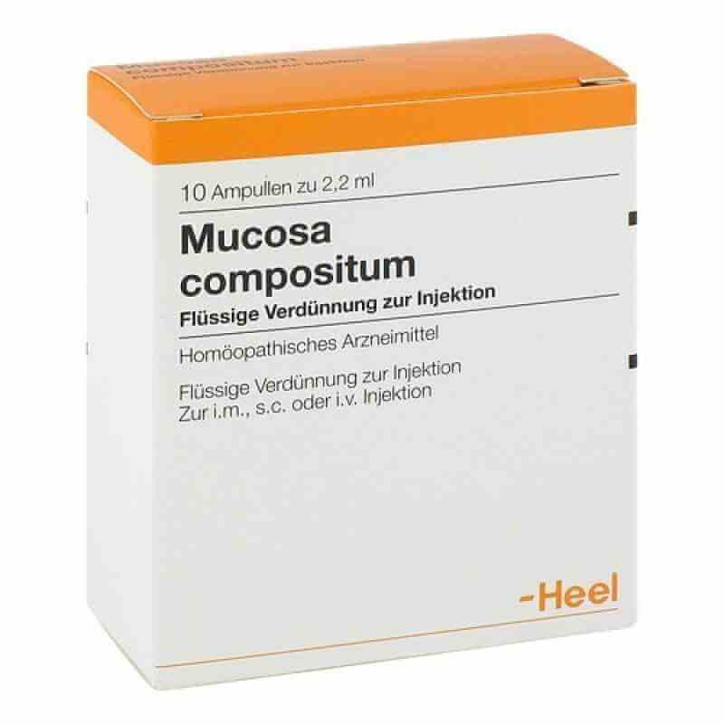Мукоза Композитум: инструкция по применению раствора