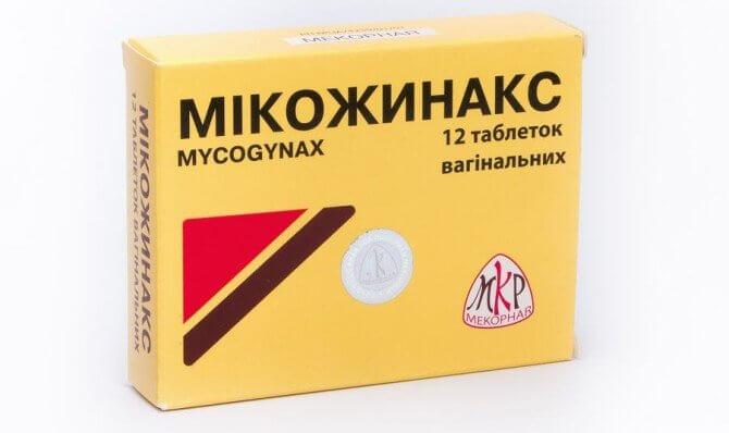 Микожинакс: инструкция по применению вагинальных таблеток