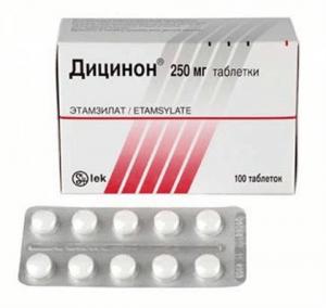 дицинон этамзилат инструкция по применению таблетки