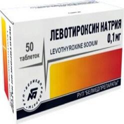Левотироксин: инструкция по применению таблеток