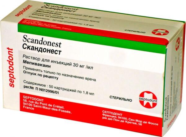 Скандонест без адреналина: инструкция по применению раствора