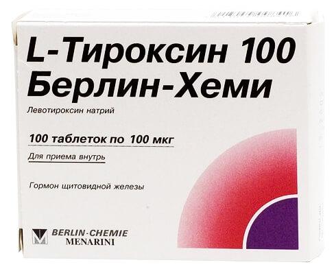L-тироксин 100: инструкция по применению тиреотропного препарата