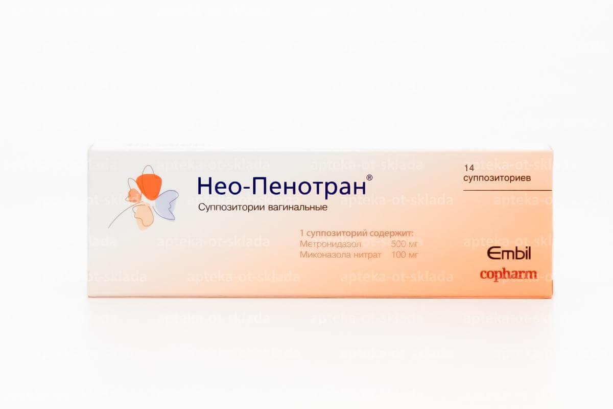 нео-пенотран свечи инструкция по применению в гинекологии