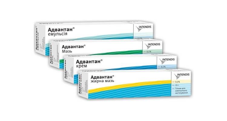 Адвантан: инструкция по применению крема, мази и эмульсии