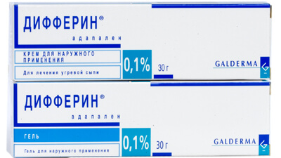 Дифферин: инструкция по применению крема и геля