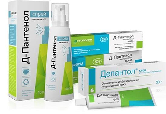Д-Пантенол: инструкция по применению крема, мази и спрея