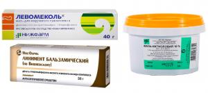 Левомеколь, Ихтиоловая мазь и Линимент Вишневского: лучший препарат