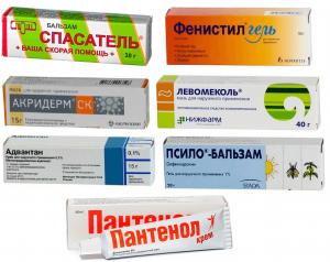 Список препаратов от укусов насекомых