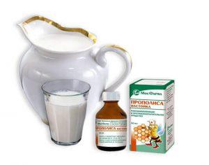 Настойка прополиса с молоком: способы применения