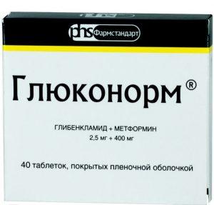 Глюконорм: инструкция по применению таблеток