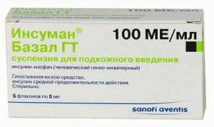 Инсуман Базал-ГТ: инструкция по применению суспензии