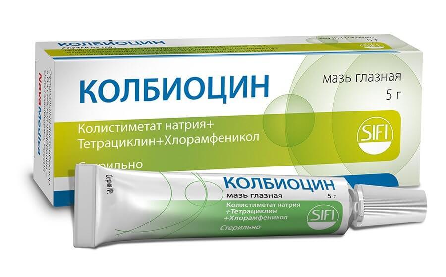 Колбиоцин: инструкция по применению мази и капель