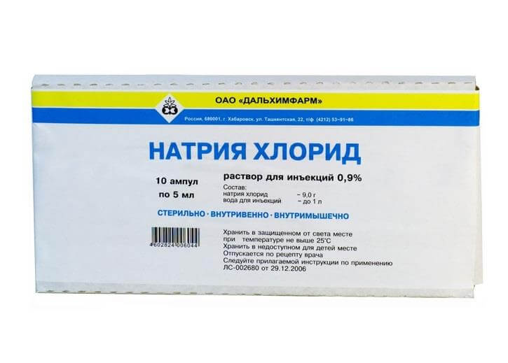 Натрия хлорид: инструкция по применению раствора