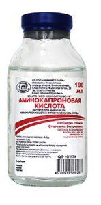 Аминокапроновая кислота в нос: способы применения