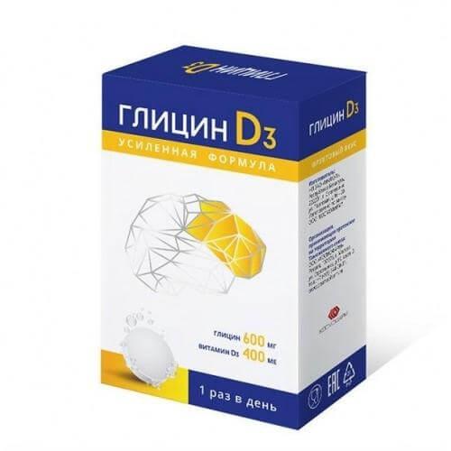 Глицин д3: инструкция по применению таблеток