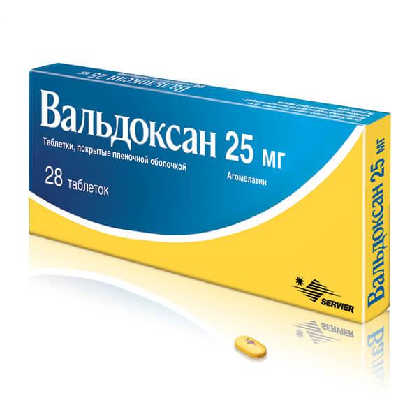 Вальдоксан: инструкция по применению таблеток