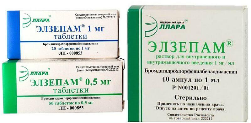 Элзепам: инструкция по применению таблеток и раствора