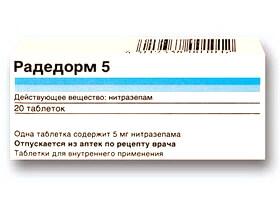 Радедорм: инструкция по применению таблеток