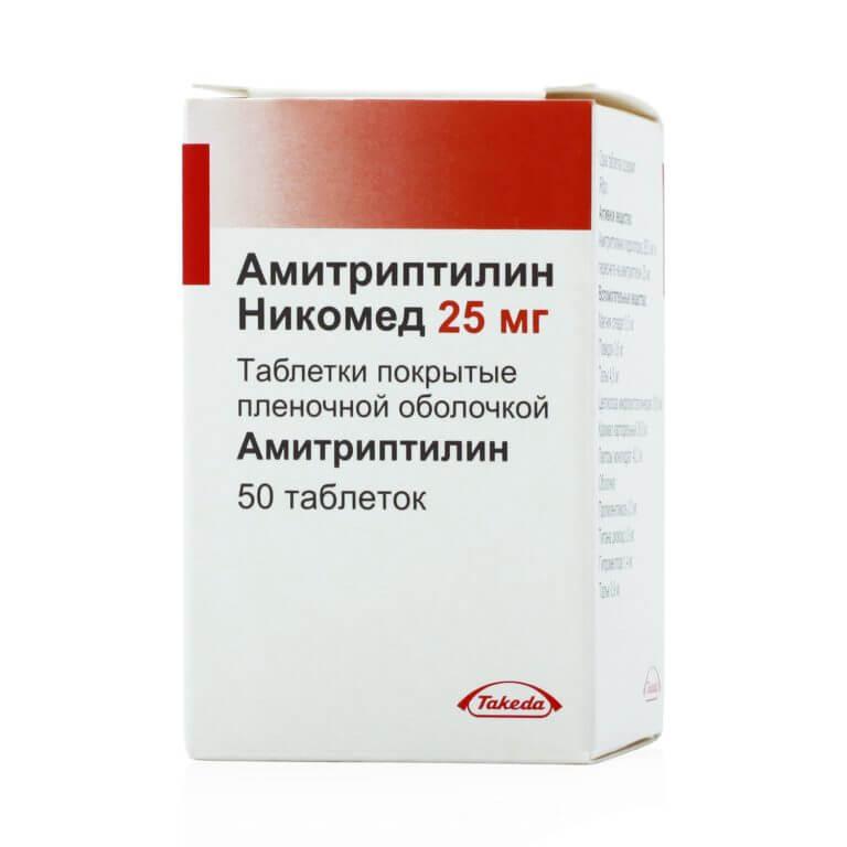 Амитриптилин Никомед: инструкция по применению таблеток