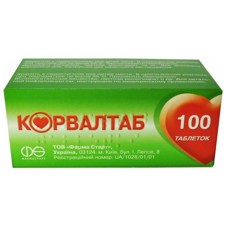 Корвалтаб: инструкция по применению таблеток
