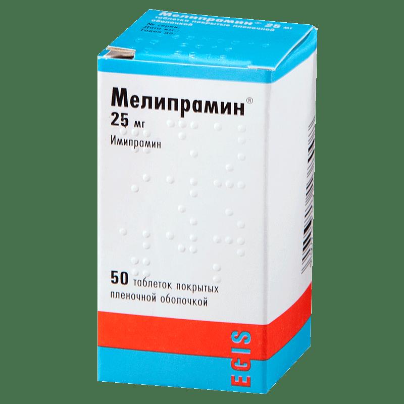 Мелипрамин: инструкция по применению таблеток