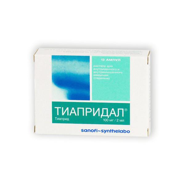 Тиапридал: инструкция по применению таблеток и раствора