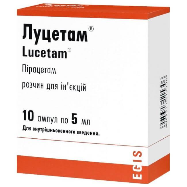 Луцетам: инструкция по применению раствора и таблеток