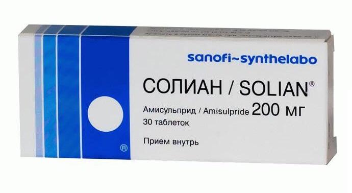 Солиан: инструкция по применению таблетки, раствор