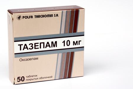 Тазепам: инструкция по применению таблеток