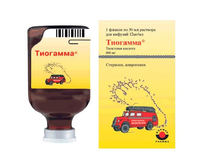 Тиогамма: инструкция по применению таблеток и раствора