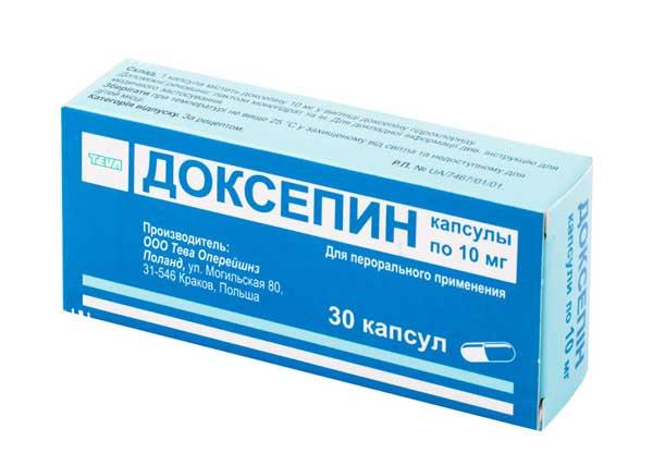 Доксепин: инструкция по применению капсул