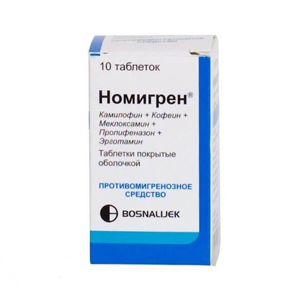 Номигрен: инструкция по применению таблеток