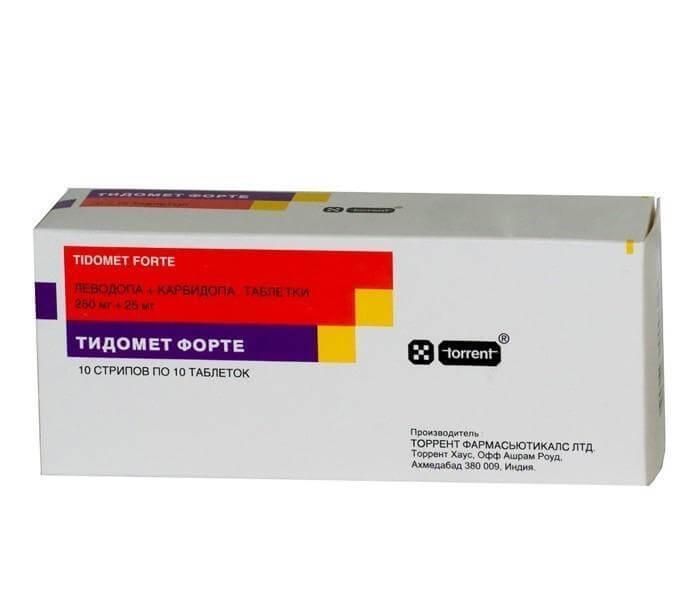 Тидомет Форте: инструкция по применению таблеток