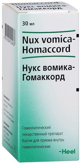 Нукс вомика-Гомаккорд: инструкция по применению раствора