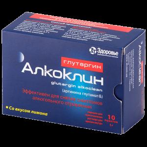 Глутаргин Алкоклин: инструкция по применению порошка