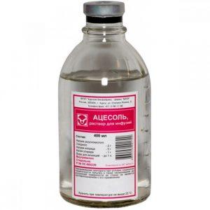 Ацесоль: инструкция по применению раствора