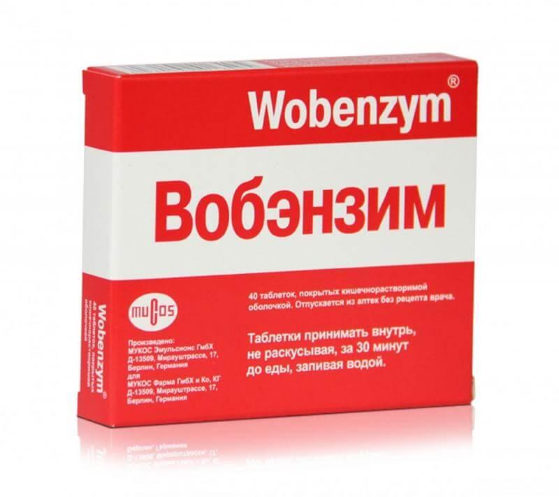 Вобэнзим: инструкция по применению таблеток